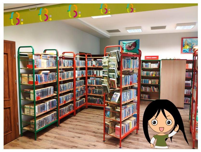 półki z książkami dzieci