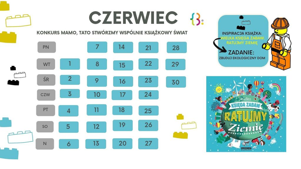 Zdjęcie przedstawia kalendarz na czerwiec zadanie konkursowe na czerwiec